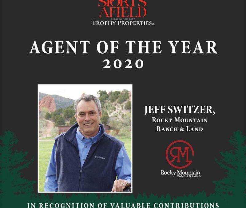 Jeff Switzer Awarded SATP Agent of 2020